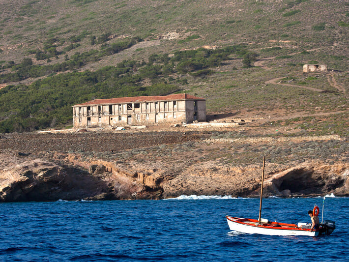 Makronissos Island now an area of archaeological interest
